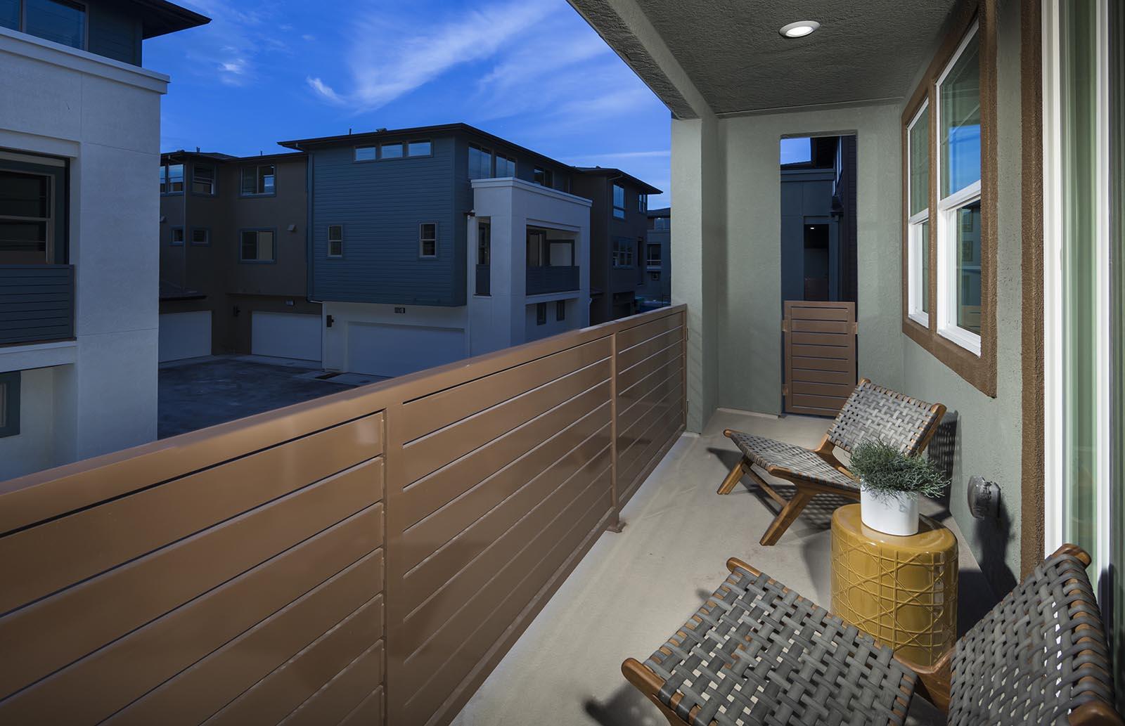 Balcony Residence 3 | Downing at Boulevard by Lennar, Dublin, CA