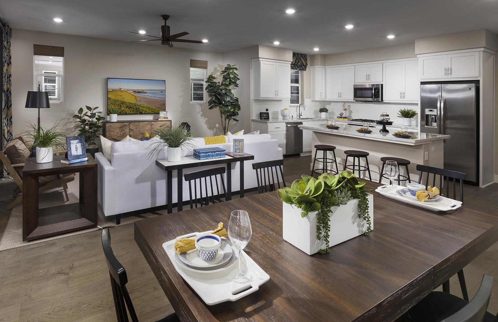 Dining Residence 3 | Downing at Boulevard by Lennar, Dublin, CA