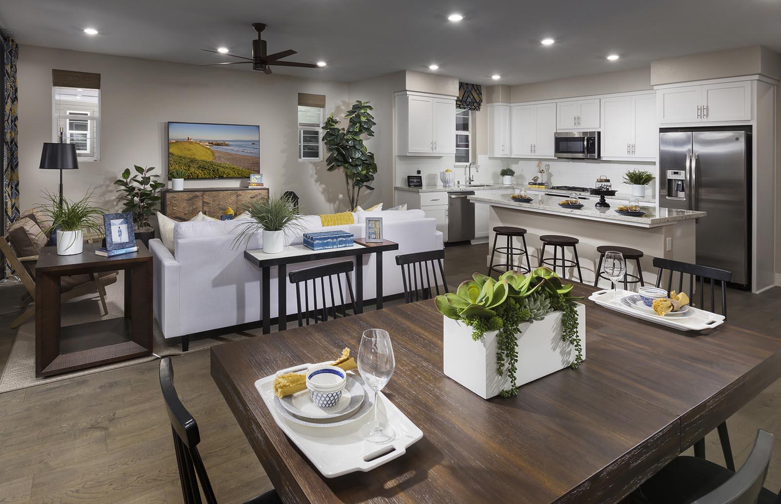 Dining Residence 3 | Downing at Boulevard by Lennar, Dublin, CA