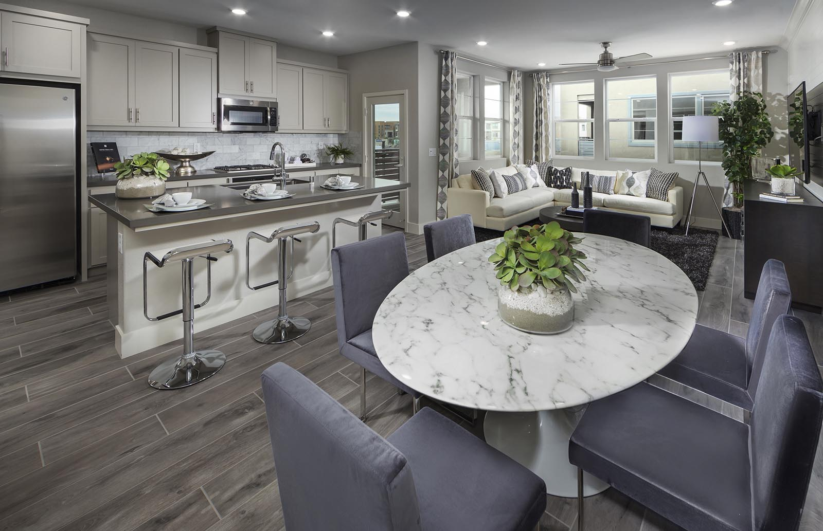 Dining to Kitchen Residence 2 | Downing at Boulevard by Lennar, Dublin, CA