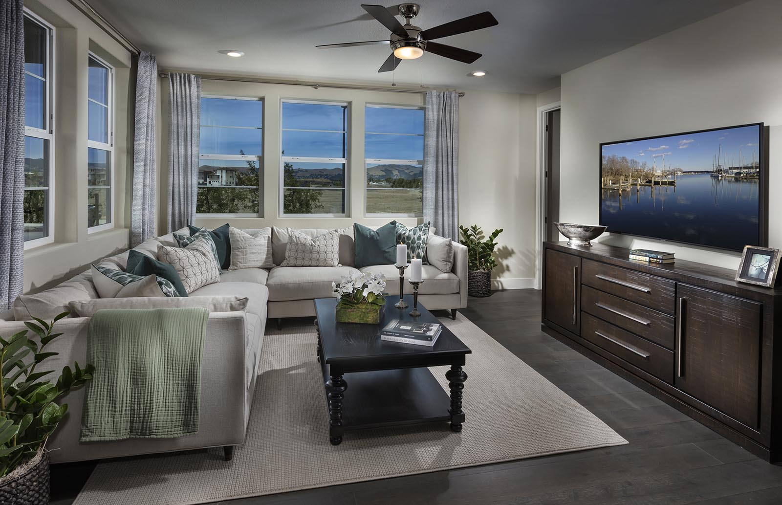 Great Room Residence 1 | Downing at Boulevard by Lennar, Dublin, CA