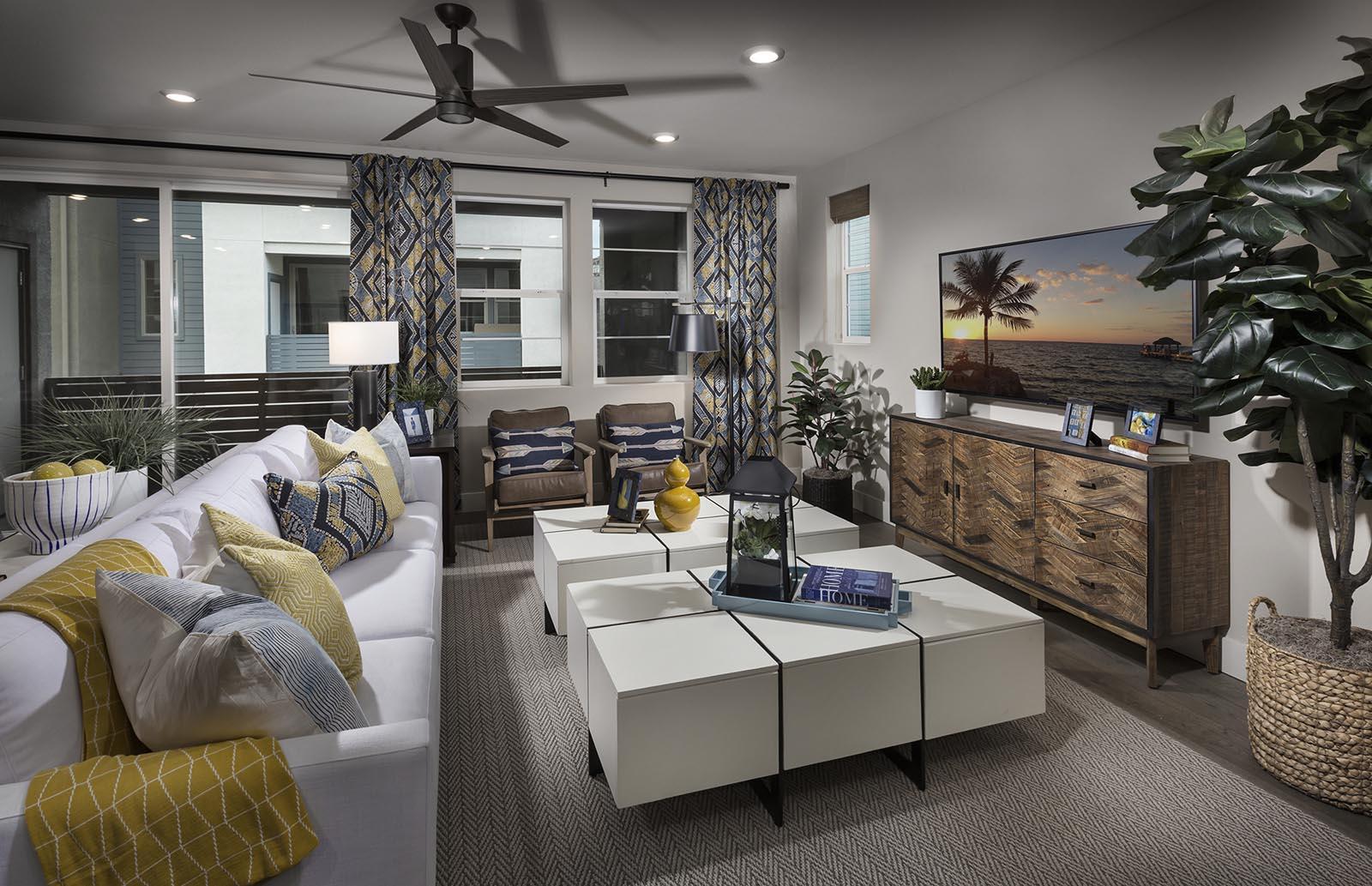 Great Room Residence 3 | Downing at Boulevard by Lennar, Dublin, CA