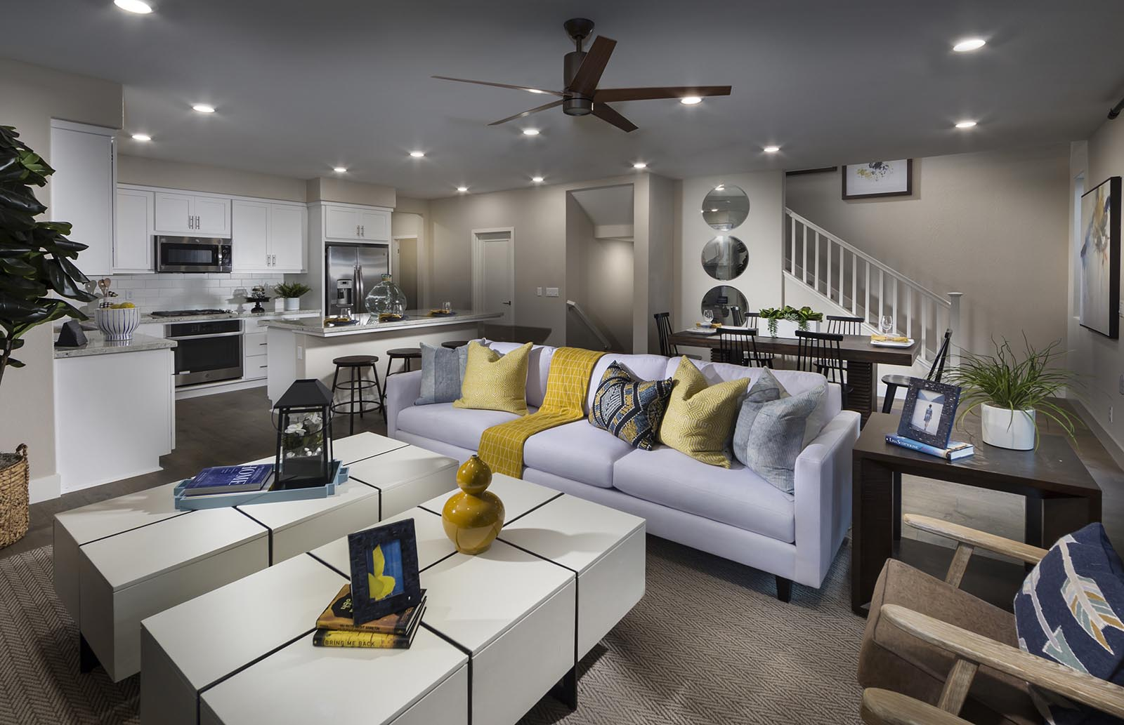 Great Room to Kitchen Residence 3 | Downing at Boulevard by Lennar, Dublin, CA