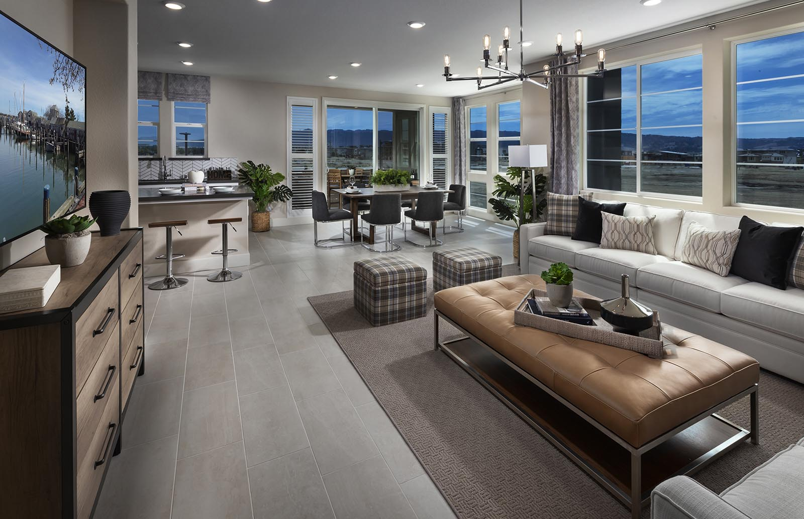 Great Room to Kitchen Residence 4 | Downing at Boulevard by Lennar, Dublin, CA