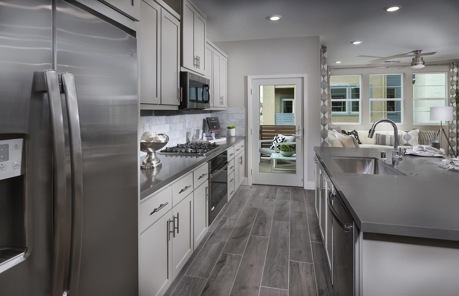 Kitchen detail Residence 2 | Downing at Boulevard by Lennar, Dublin, CA