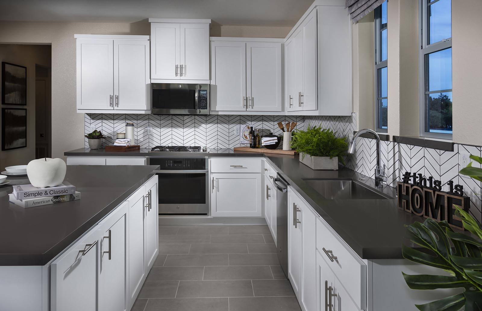 Kitchen detail Residence 4 | Downing at Boulevard by Lennar, Dublin, CA