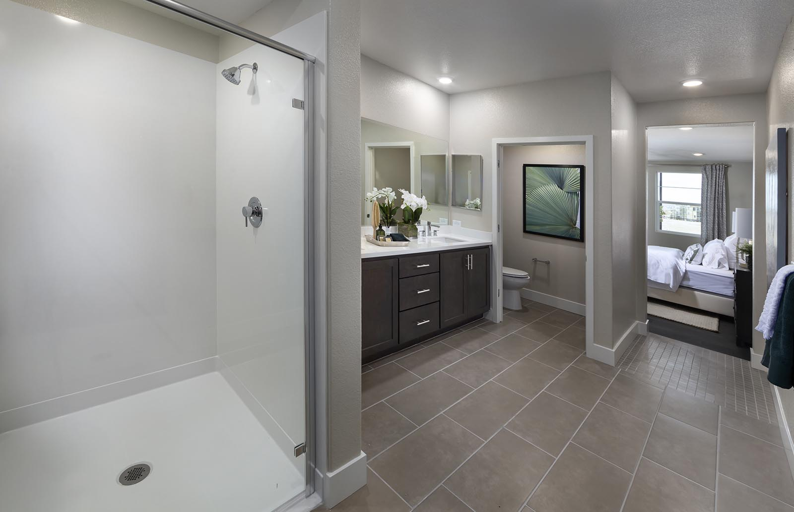 Owner's Bath Residence 1 | Downing at Boulevard by Lennar, Dublin, CA