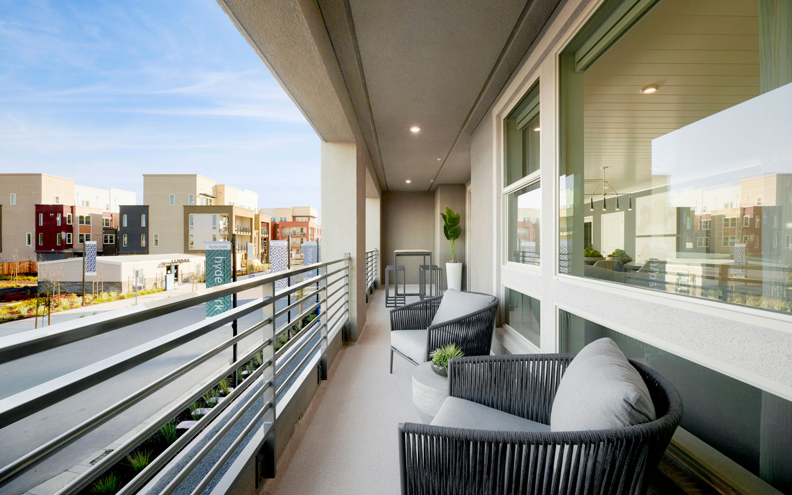 Deck   Residence 1   Hyde Park at Boulevard in Dublin, CA   Brookfield Residential