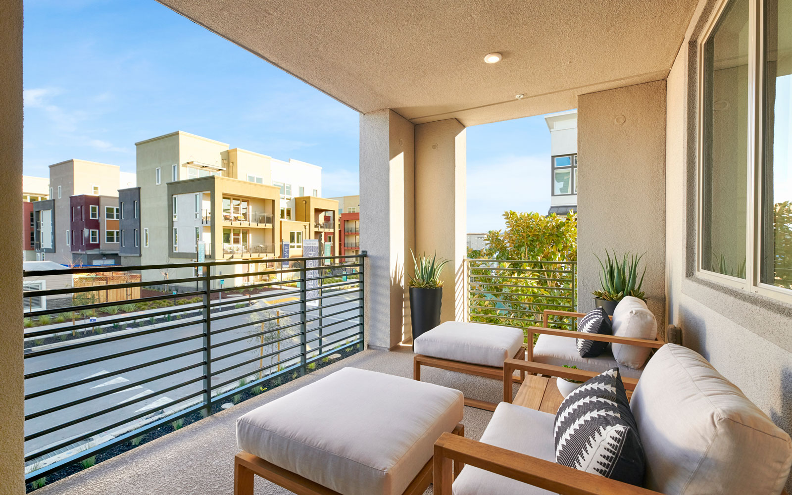Deck   Residence 3   Hyde Park at Boulevard in Dublin, CA   Brookfield Residential