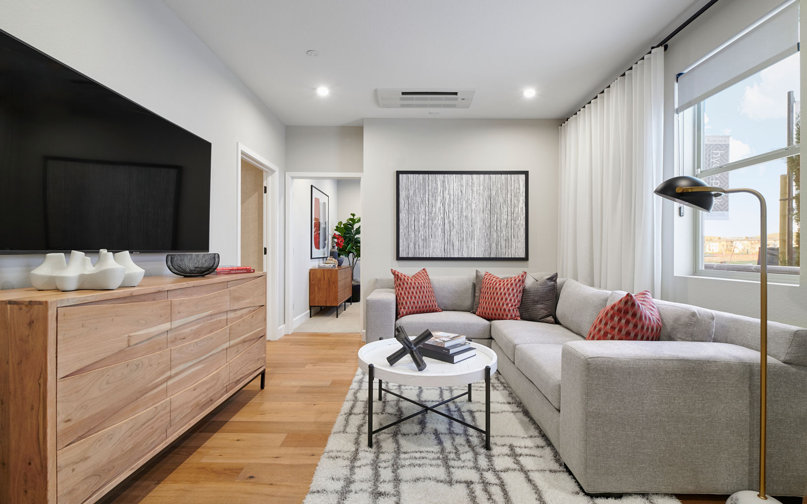 Family Room | Residence 3 | Hyde Park at Boulevard in Dublin, CA | Brookfield Residential
