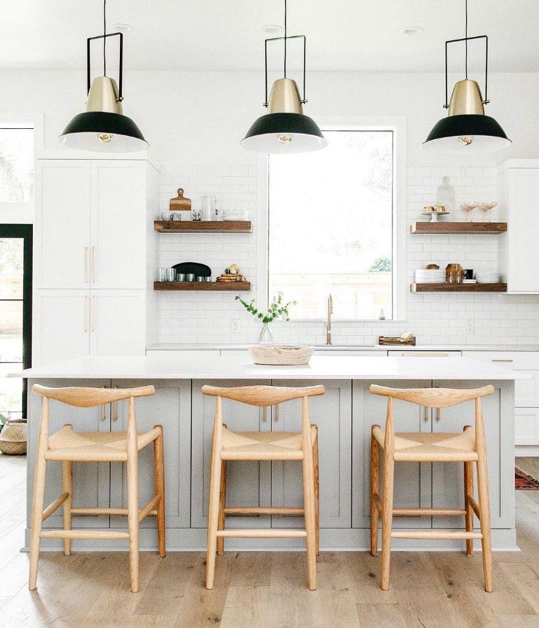 kitchen with metal lighting fixtures